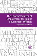 The Contract System of Employment for Senior Government Officials (Managing the Public Service: Strategies for Improvement, nr. 16)