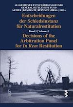 Decisions of the Arbitration Panel for In Rem Restitution, Volume 5 (Decisions of the Arbitration Panel for In Rem Restitution)