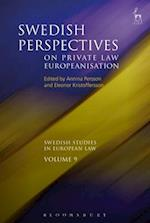 Swedish Perspectives on Private Law Europeanisation (Swedish Studies in European Law)