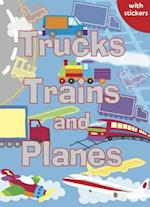 Trucks, Trains and Planes (Sparkly Colouring & Activity)