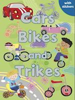 Cars, Bikes and Trikes (Sparkly Colouring & Activity)