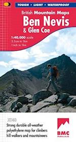 Ben Nevis and Glen Coe (British Mountain Map)