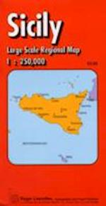 Sicily Regioanl Road Map (Red Cover S)