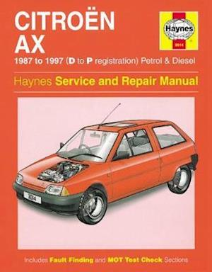 Bog, hardback Citroen AX (1987-97) Service and Repair Manual af A K Legg