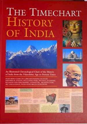 Bog, hardback Timechart History of India af Aureole Editorial Team