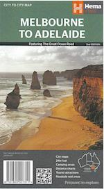 Melbourne to Adelaide: Featuring The Great Ocean Road, Hema Maps (Hema Maps)