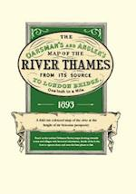The Oarsman's and Angler's Map of the River Thames from Its Source to London Bridge 1893