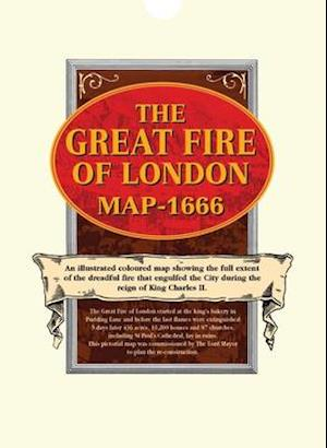 Bog, ukendt format Great Fire of London Map 1666 af Old House Books