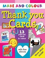 Make and Colour Thank You Cards (Make & Colour S)
