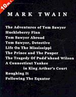 10 Books in 1: 'The Adventures of Tom Sawyer', 'Huckleberry Finn', 'Tom Sawyer Abroad', 'Tom Sawyer, Detective', 'Life On The Mississippi', 'The Princ