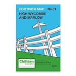 High Wycombe and Marlow (Chiltern Society Footpath Maps Series, nr. 1)