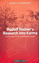 Rudolf Steiner's Research into Karma