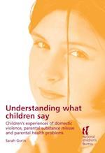 Understanding What Children Say
