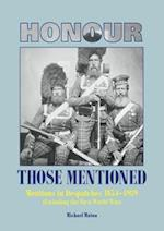 Honours and Awards Mentions in Dispatches 1854-1914 & 1920-1939