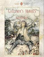 Gulliver's Travels: Unabridged & enhanced with 12 colour plates and 78 line drawings from the golden age of children's book illustration. (Aziloth Boo