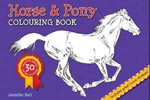 Bog paperback Horse and Pony Colouring Book af Jennifer Bell
