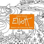 Helen Elliott Beach Life Hand Drawn Painting and Colouring Book