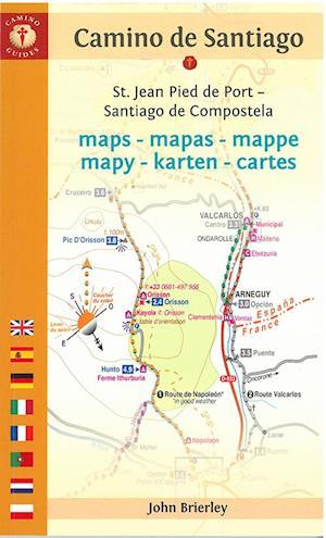Camino De Santiago Maps St. Jean Pied De Port - Santiago De Compostela