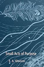 Small Acts of Purpose