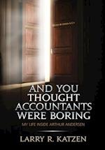 And You Thought Accountant's Were Boring