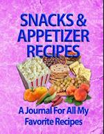 Snacks & Appetizer Recipes
