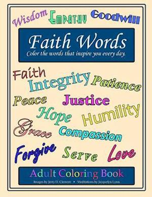 Faith Words Adult Coloring Book
