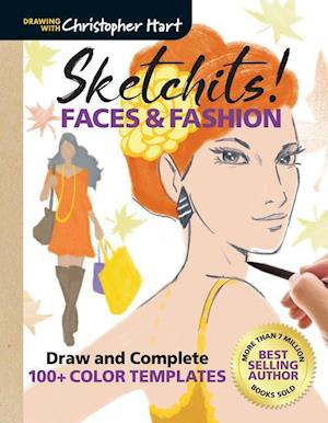 Bog, paperback Sketchits! Faces and Fashion af Christopher Hart