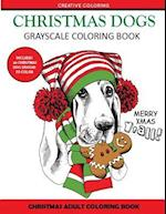 Christmas Dogs Grayscale Coloring Books