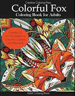 Colorful Fox Coloring Book for Adults
