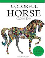 Colorful Horse Coloring Book