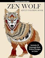 Zen Wolf Coloring Book for Adults