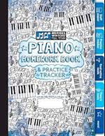 Piano Homework Book and Practice Tracker (Blue)