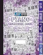 Piano Homework Book and Practice Tracker (Purple)