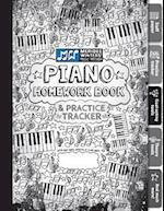 Piano Homework Book and Practice Tracker (Black)