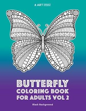 Bog, paperback Butterfly Coloring Book for Adults Vol 2 af Art Therapy Coloring
