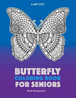 Bog, paperback Butterfly Coloring Book for Seniors af Art Therapy Coloring
