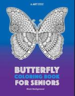 Butterfly Coloring Book for Seniors