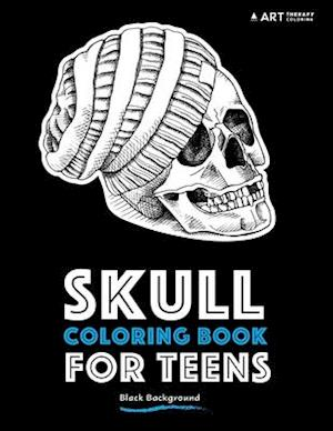 Bog, paperback Skull Coloring Book for Teens af Art Therapy Coloring