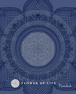 Flower of Life - Blue Ink Flower