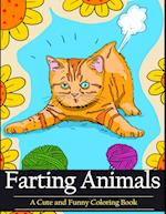 Farting Animals Coloring Book: A Cute and Funny Coloring Book