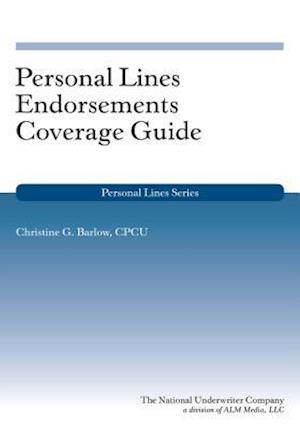 Bog, paperback Personal Lines Endorsements Coverage Guide af Christine G. Barlow Cpcu