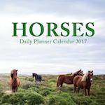 Horses Daily Planner Calendar 2017