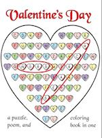 Valentine's Day Word Search: A Puzzle, Poem, and Coloring Book in One