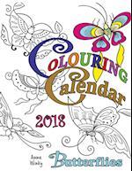 Colouring Calendar 2018 Butterflies (UK Edition)