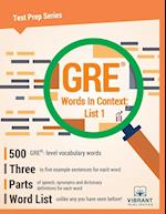 GRE Words In Context: List 1