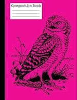 Wise Owl Wide Ruled Composition Notebook