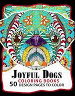 Joyful Dogs Coloring Book 50+ Design Pages to Color