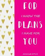 For I Know the Plans I Have for You - Jeremiah 29