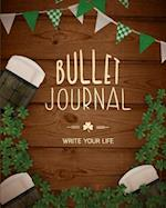 90 Days Blank Bullet Journal, Dated Notebook 8x10 150 P, Party in the Wood Cover