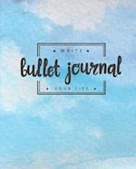 Bullet Journal Dotted Grid Dated Notebook, Sky Blue Watercolor